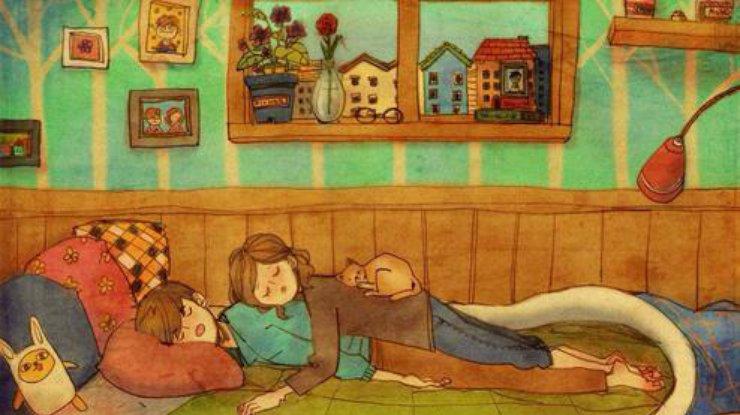Любовь проявляется в мелочах: 23 трогательные иллюстрации о тепле, которое дарит семья