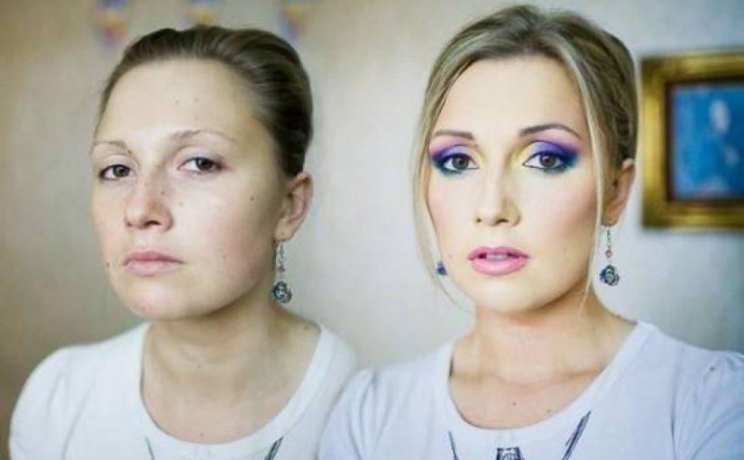 Чудеса макияжа – девушка превращается в знаменитостей, используя только тональный крем и карандаш