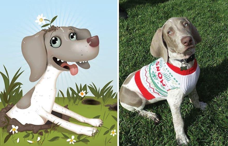 Портреты любимых домашних животных, нарисованные со слов их владельцев