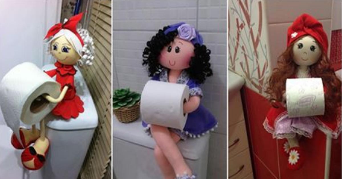 Кукла-держатель туалетной бумаги. Мастер-класс от автора идеи. А вам слабо сделать такую?