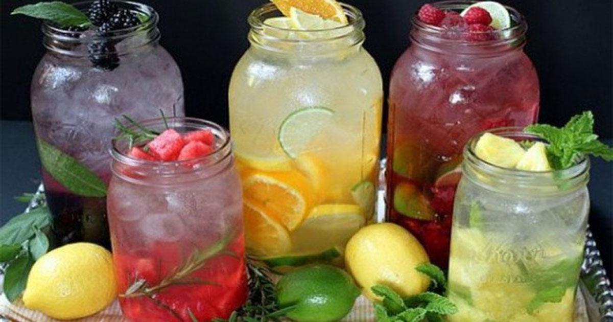 Вкусная и полезная фруктовая, травяная вода (рецепты)