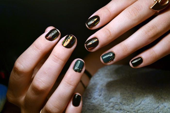 Шеллак фото на короткие ногти темные