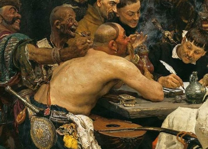 Картина Ильи Репина «Запорожцы». Удивительная деталь.