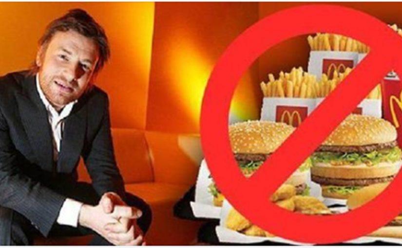 Шеф-повар Джейми Оливер выиграл судебный процесс, против Макдональдса, доказав, что их еду есть нельзя