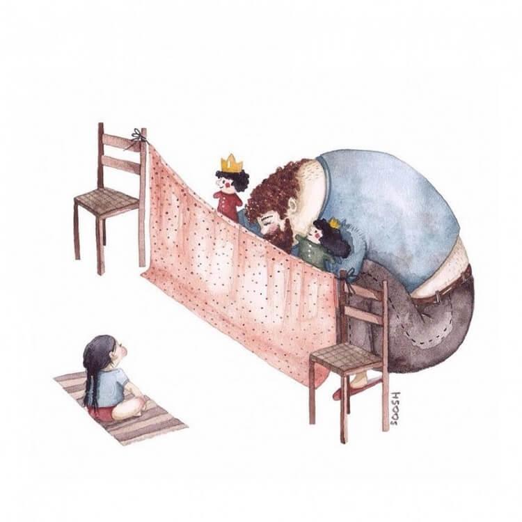 14 рисунков, объясняющих отношения отцов и дочерей. На № 8 начинаешь плакать!