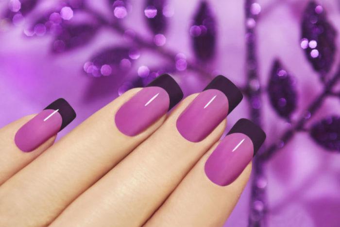 Волшебные цвета — таинственный фиолетовый, нежный сиреневый, романтичный лавандовый маникюр …