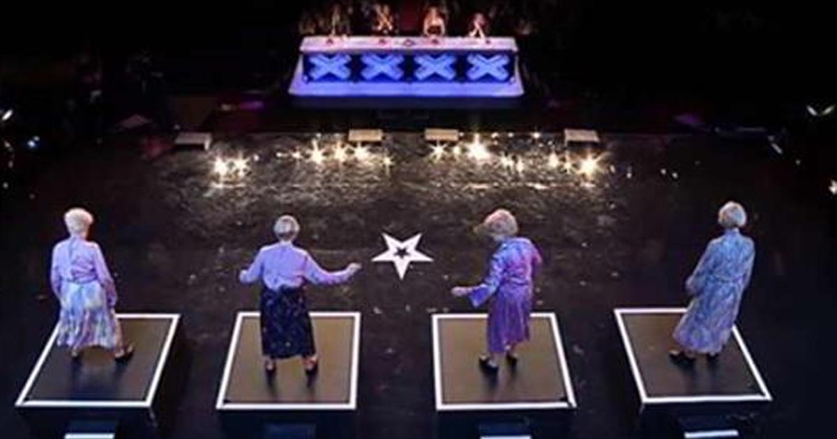 Жюри повергли в недоумение вышедшие на сцену четыре бабушки! И когда они сбросили одежду… Это нужно видеть!