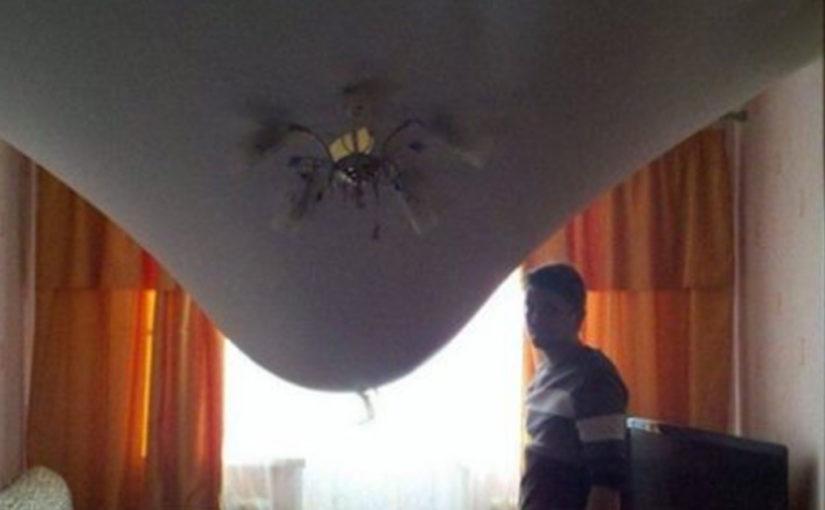 Ох уж эти натяжные потолки! (12 фото)