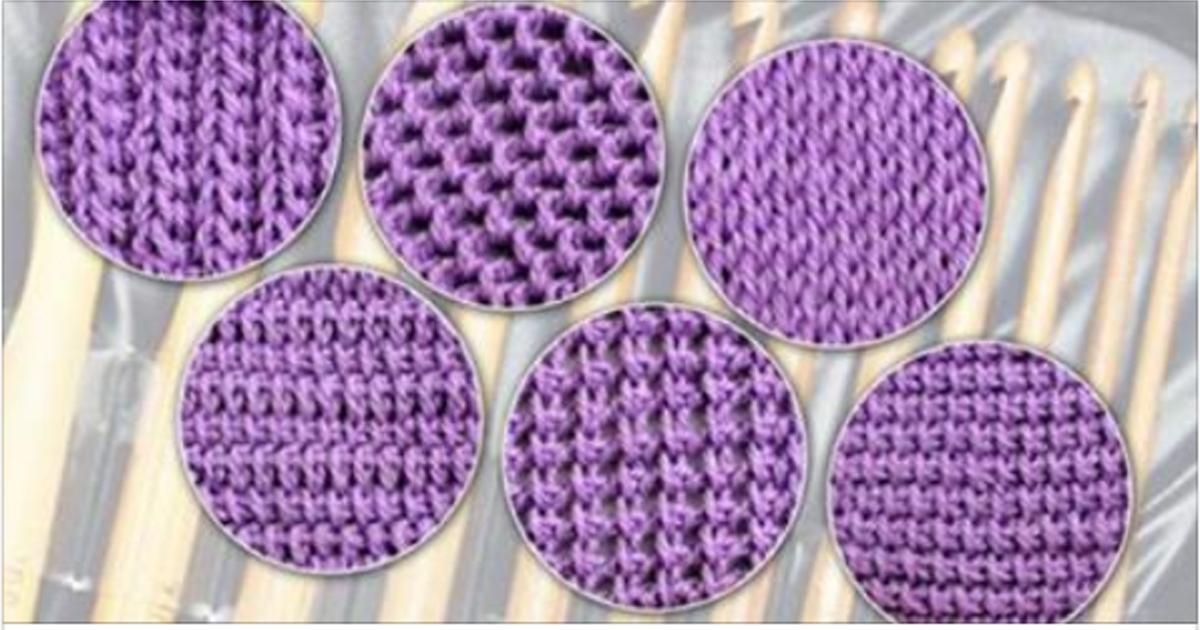 Тунисское вязание: 6 узоров для начинающих…