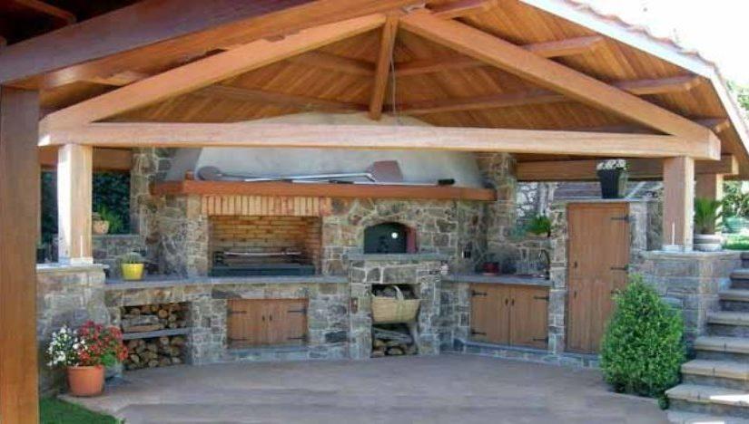 Современная летняя кухня на даче своими руками