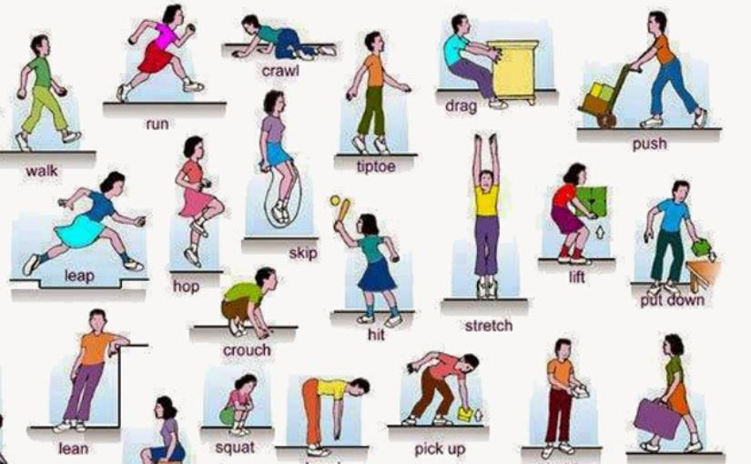 Английские глаголы движения и действия. Это обязательно пригодится при изучении языка!