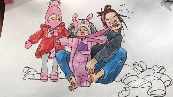 Художница создаёт карикатуры о жизни с детьми, которые поймут все родители