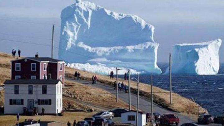 В Канаде небывалый ажиотаж: к берегу приплыл айсберг колоссальных размеров
