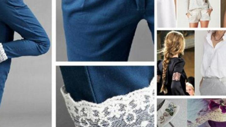 Женственное кружево: 37 идей декора для блузок и рубашек…