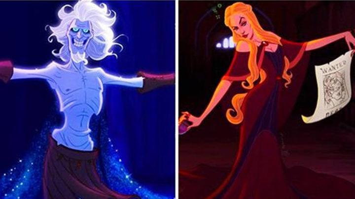 Как бы выглядели персонажи «Игры престолов», если бы их иллюстрировала студия Disney