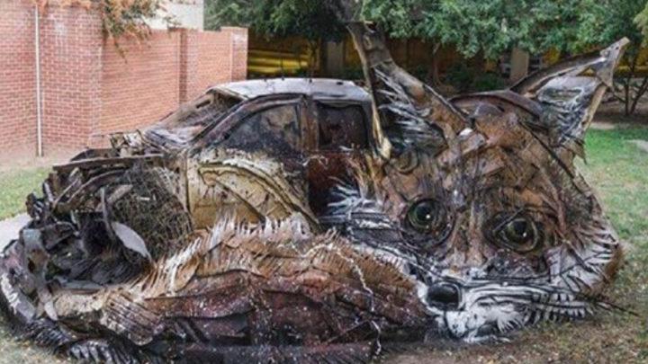 Художник превращает мусор в потрясающие скульптуры животных (15 фото)