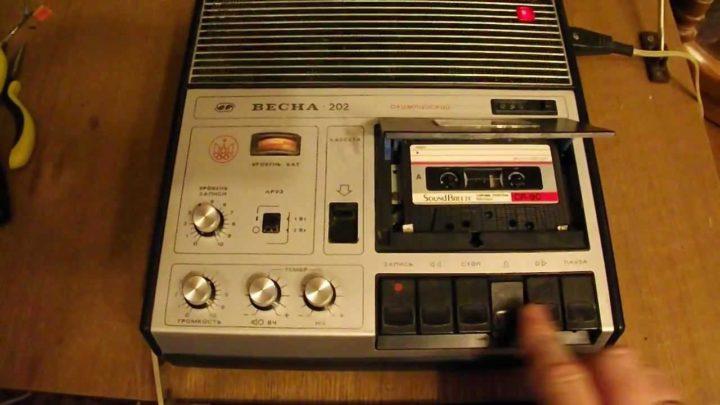 Советское портативное аудио: магнитофон «Весна-202»